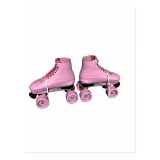 Pink Roller Skates Post Cards