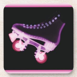 Pink Rollerskate Xray Beverage Coaster