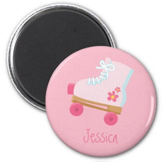 Pink Rollerskates Magnet