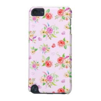 Pink romantic Flower Design iPod Touch 5G Covers