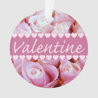 Pink romantic roses ornament