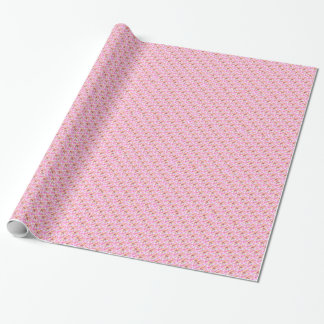 Pink Roosters Wrapping Paper
