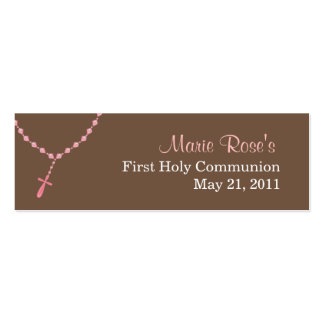Pink Rosary Small Tag Pack Of Skinny Business Cards