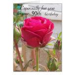 Pink Rose 90th Birthday