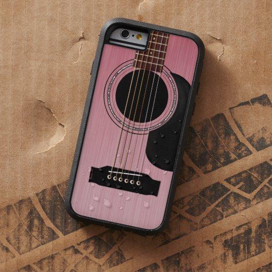 Pink Rose Acoustic Guitar Tough Xtreme iPhone 6 Case