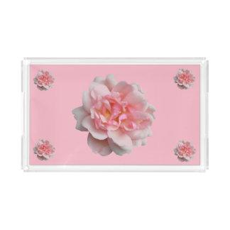 Pink Rose Acrylic Tray