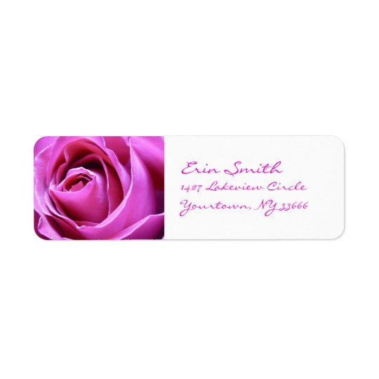 Pink Rose address labels
