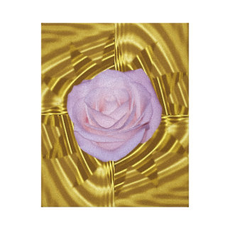 Pink rose and sacred geometry canvas prints