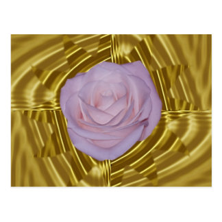 Pink rose and sacred geometry post cards
