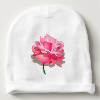 Pink Rose Baby Beanie
