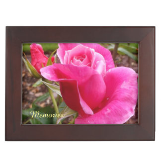 Pink Rose Beautiful Memories Keepsake Box