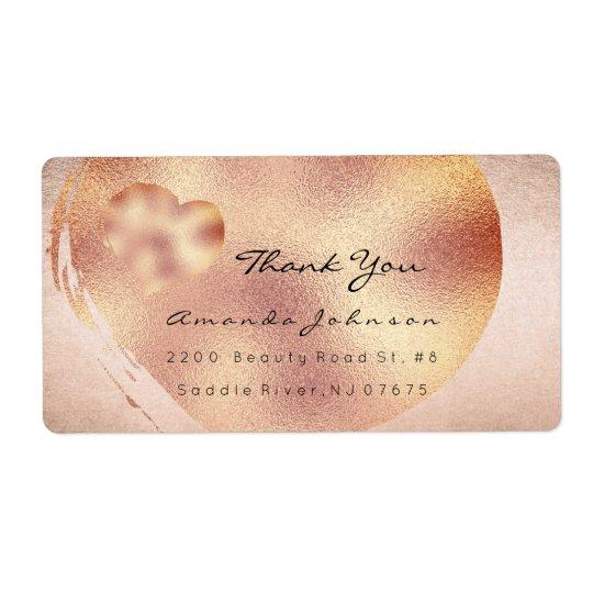 Pink Rose Blush Gold Blush Heart Thank You