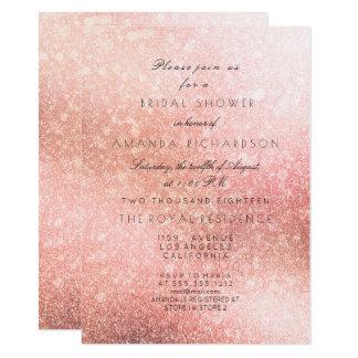 Pink Rose Blush Sparkly Glitter Bridal Shower Card