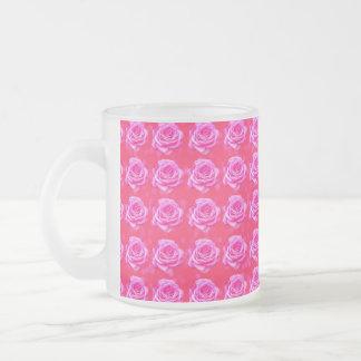Pink_Rose_Bokeh_Frosted_Glass_Mug Frosted Glass Coffee Mug