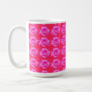 Pink_Rose_Bokeh_Pattern_Big_White_Coffee_Mug Coffee Mug