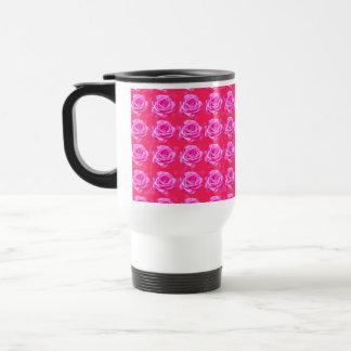 Pink_Rose_Bokeh_Travel_Commuter_Mug Travel Mug