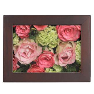 pink rose bouquet by Therosegarden Keepsake Box