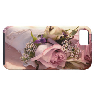 pink rose bouquet with ribbon iphone4 tough case