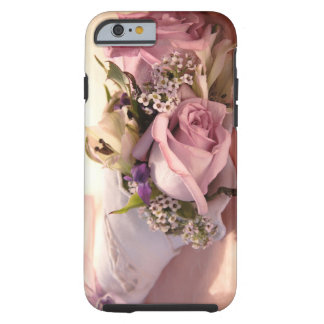 pink rose bouquet with ribbon iPhone 6 case  Tough iPhone 6 Case