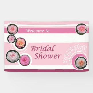 Pink Rose Bridal Shower Banner