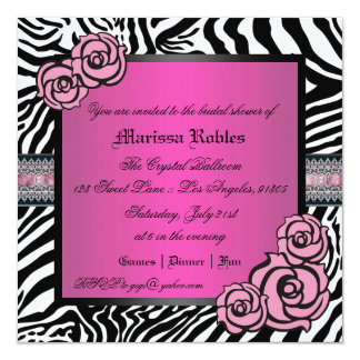 Pink Rose Bridal Shower Card