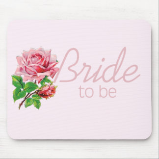 Pink Rose Bride to Be tshirts and Gifts Mousepad