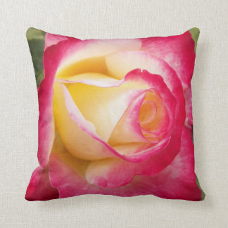 Pink Rose Bud Floral Cushion