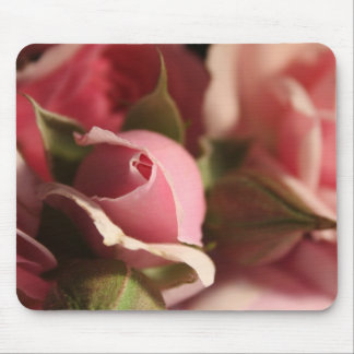 Pink Rose Bud Mouse Mats