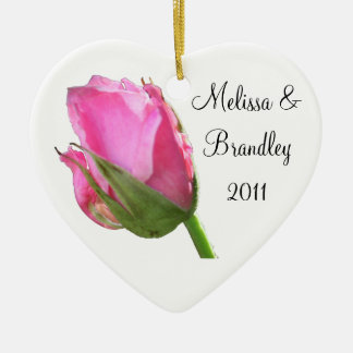 Pink Rose Bud Ornament
