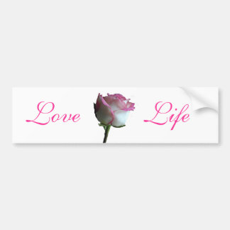 Pink Rose Bumper Sticker
