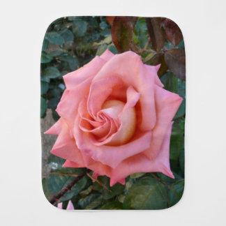 pink rose burp cloth