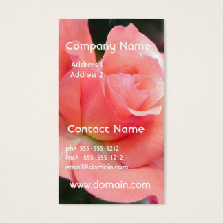 Pink Rose Business Card