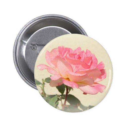 Pink Rose Button