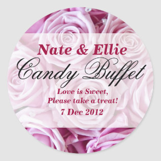 PInk Rose Candy Buffet Sticker