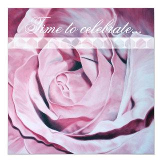 Pink Rose Celebrate Bachelorette Party Invite