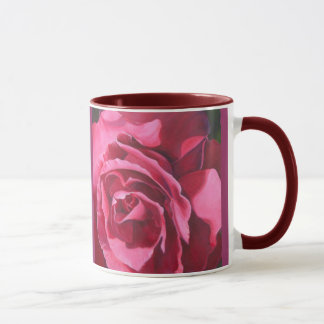 Pink Rose Ceramic Coffee Mug