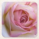 Pink Rose Coaster Square Paper Coaster