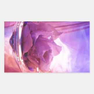 """Pink Rose"" Collection Rectangular Sticker"