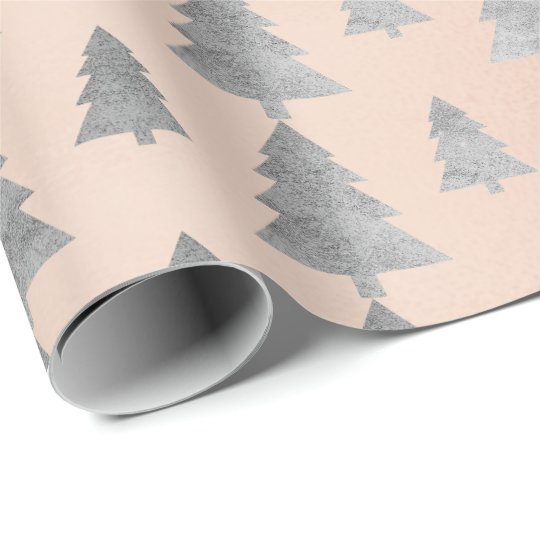 Pink Rose Cottage Gold Christmas Tree Silver Gray