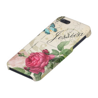 Pink Rose Customizable iPhone 5 Covers