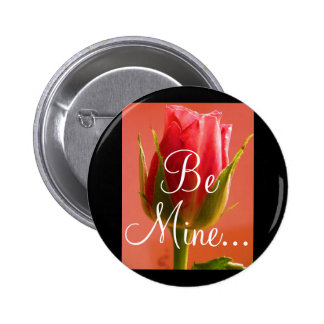 Pink Rose Delight II Button - Customizable Pinback Buttons