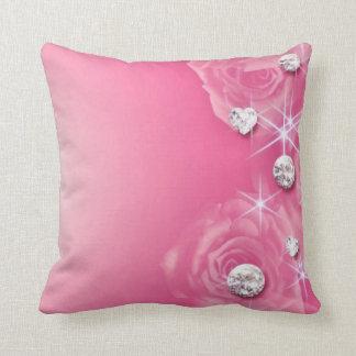 Pink Rose Diamonds Throw Pillow Throw Cushions
