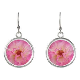 Pink Rose Drop Earrings