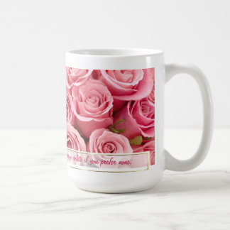 Pink Rose Elegance - Customize Basic White Mug