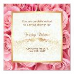 Pink Rose Elegance - Shower 13 Cm X 13 Cm Square Invitation Card