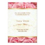 Pink Rose Elegance - Shower 13 Cm X 18 Cm Invitation Card