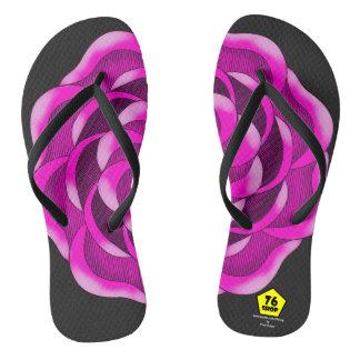 Pink Rose Flip Flops
