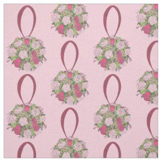 Pink Rose Floral Flower Bouquet Wedding Fabric