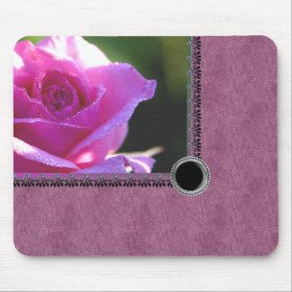 Pink Rose Floral Mousepad