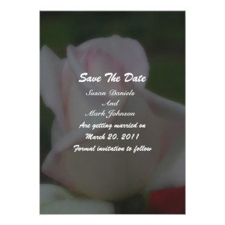 Pink Rose Floral Wedding Save The Date Custom Invites